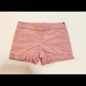 LOFT ruffle shorts